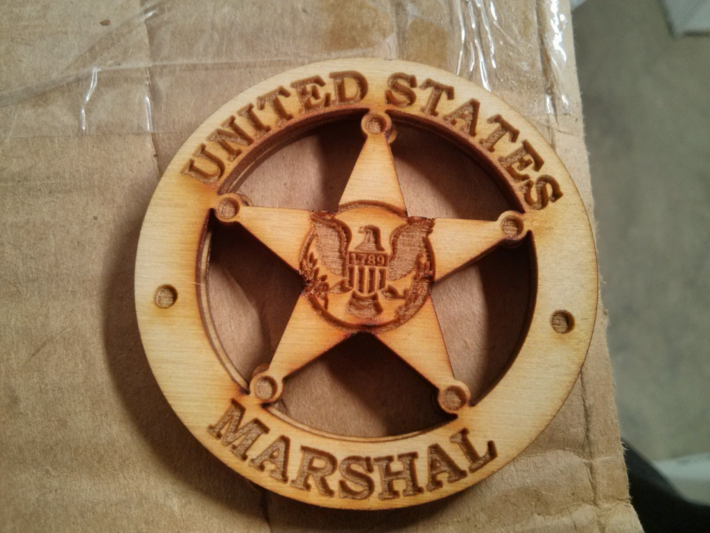 US Marshal Badge Cutout