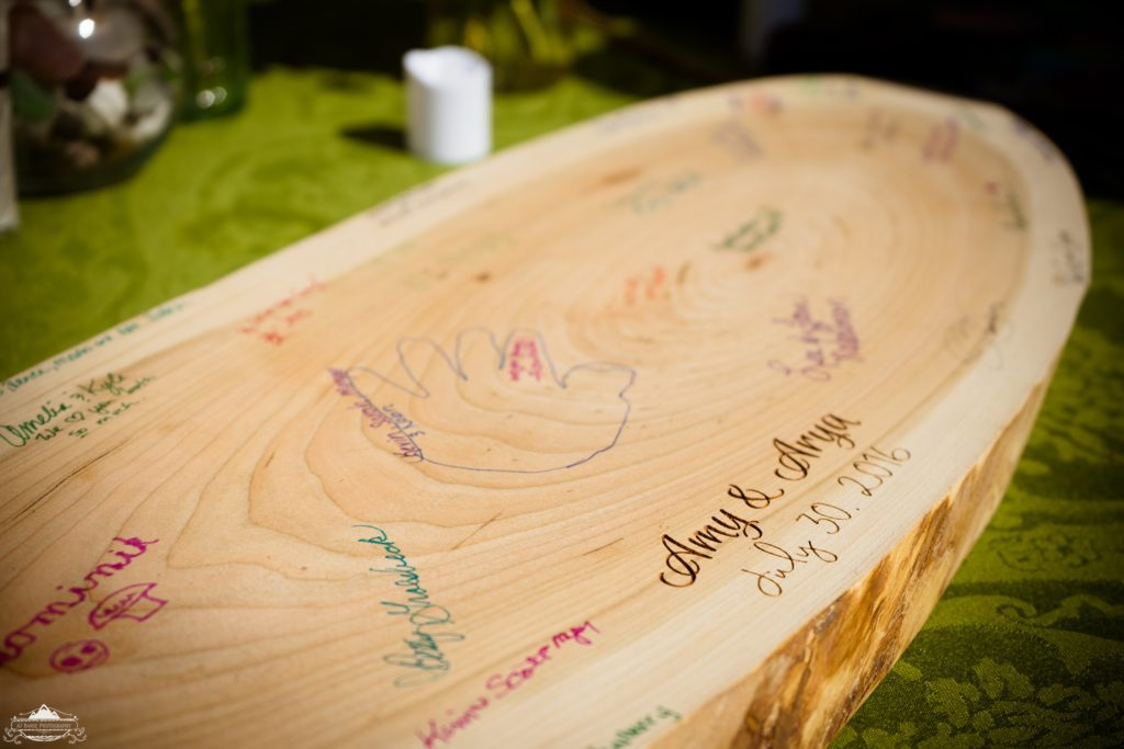 "A ""guestbook"" for a wedding."